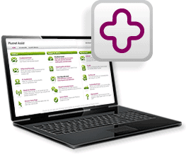 Picture of a laptop running Plusnet Assist