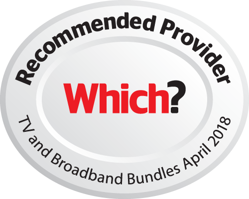 - Which? Recommended Provider for TV and Broadband bundles – 2018