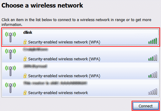 Searching for Wireless network - Windows