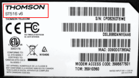 Check the label on the bottom of your router and make sure it says ST516v6 in the top left corner.