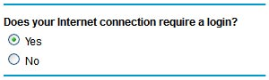 From Basic Settings, Select 'Yes' under 'Does Your Internet Connection Require A Login?'