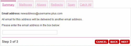 Enter the email address you want to redirect to.