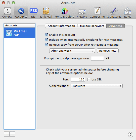 how to change mail settings on mac