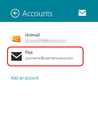 Choose your email account from the list.