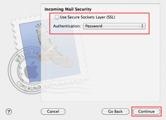 Fill in the security details and click Continue.