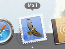 Launch Mail by clicking on it's Dock icon or finding it in the Applications folder.