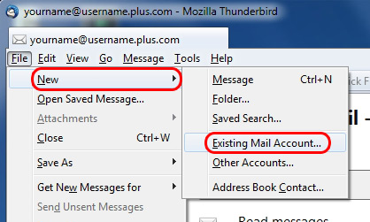 Go to File on the top bar and select Mail Account.