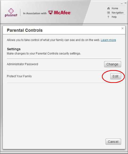 Parental Controls protect your family link
