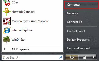 Windows - My Computer comparison