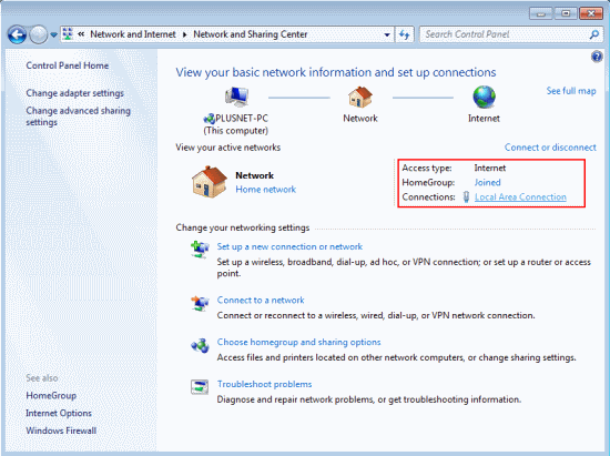 Windows 7 - Manage Network Connection