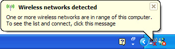 wireless networking detected