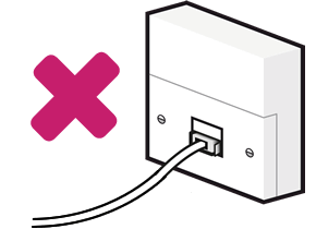 Do not connect directly to a single socket
