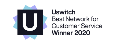 uSwitch Best Network for Customer Service Winner 2020