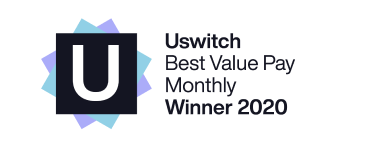 uSwitch Best Value Pay Monthly Winner 2020